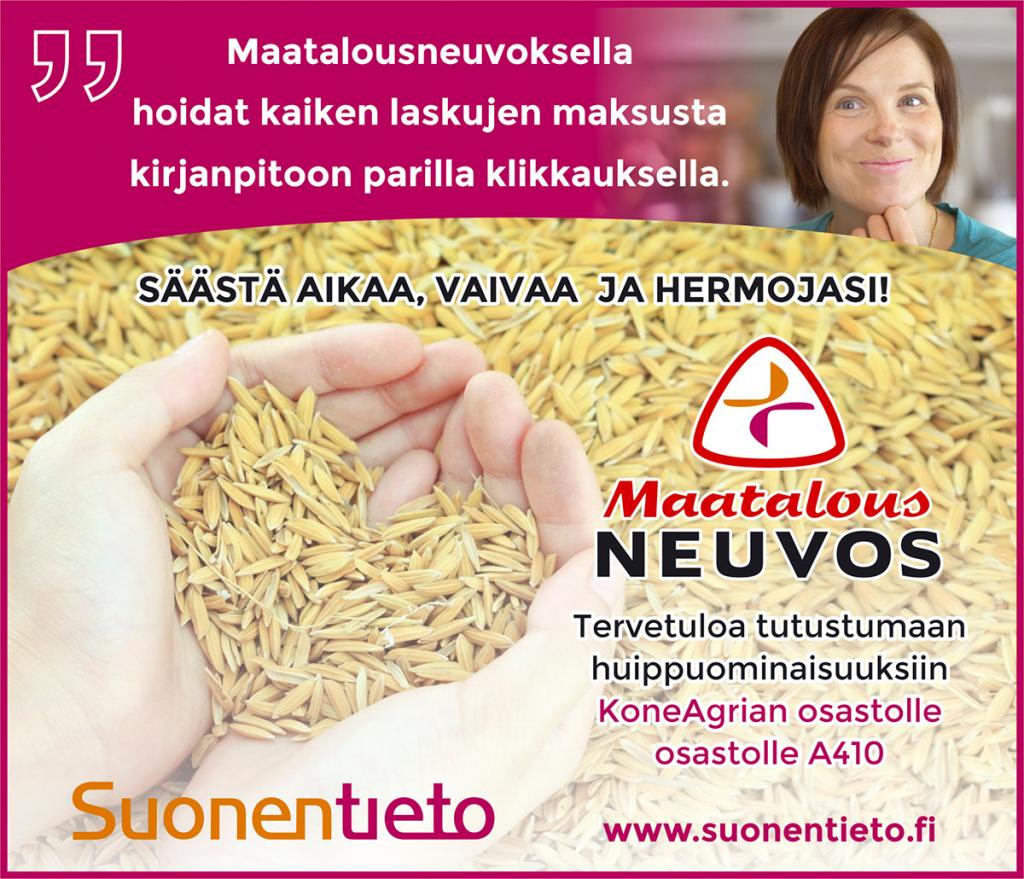 Tervetuloa KoneAgriaan osastolle A410 Jyväskylään 10.-12.10.2019