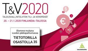 Taloushallinnon ammattilaisten vuoden ehdoton päätapahtuma TILI- JA VEROPÄIVÄT.